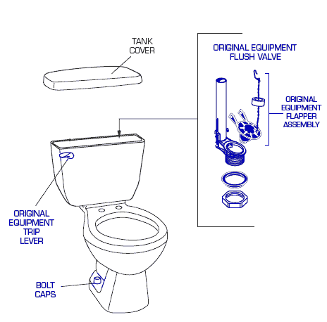 Genuine American Standard 2116 016 Toilet Replacement Parts